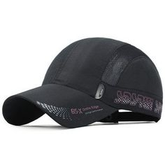 a8cedc25db2e3 Mens Quick-dry Thin Breathable Snapback Flat Baseball Caps Adjustable  Outdoor Visors Hats Visor Hats