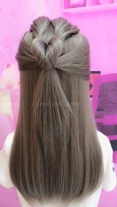 Try this hairstyle today? Try this hairstyle today? Little Girl Hairstyles, Vintage Hairstyles, Summer Hairstyles, Easy Hairstyles, Side Bang Haircuts, Haircuts With Bangs, Pretty Braided Hairstyles, Shoulder Length Hair, Hair Videos