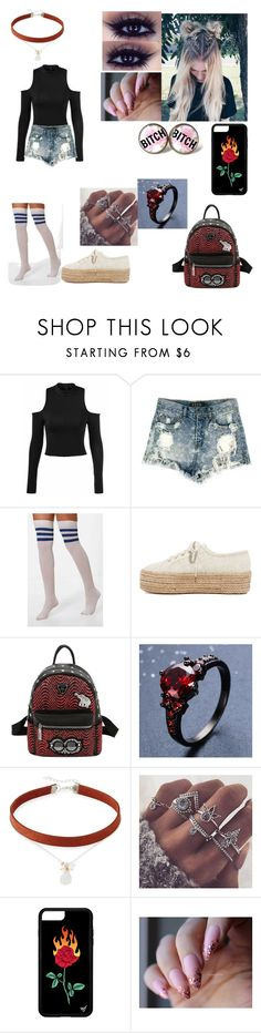 """""""your going to miss me"""" by pinkkittens ❤ liked on Polyvore featuring Boohoo, Superga and NAKAMOL"""