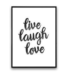 Citation de typographie houosewares Live laugh love par Wallzilla