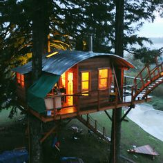 Our friend and frequent contributor, Foster Huntington, lives in a very special place in Skamania County, Washington called The Cinder Cone. Built with friends, the property features several treehouses, a wood-fired tub, a skate bowl, and lot full of the greatest trucks.