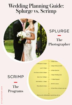 Wedding Planning Guide: What to splurge on and what to save on. Amazing advice from Wedding Planners and Experts across the country! Brides-to-be, read this! @stylecaster