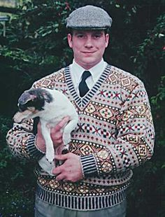 This is a traditional Shetland pattern known as 'The Prince of Wales' pattern