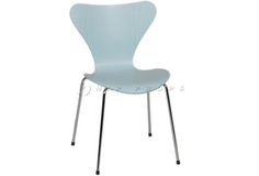 Model 3107 chair light blue designed by Arne Jacobsen 1955. Available to hire from  http://www.hipprops.com/Jacobsen,_Arne/Model_3107_chairs_light_blue
