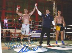 After his victory victory this professional MMA fighter sent the American Posture Institute this photo saying Thanks.