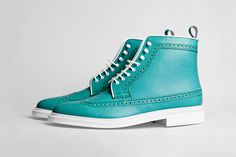 Phenomenon × Regal Longwing Brogue Boots in Turquoise.