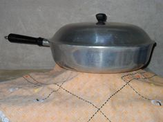 #Vintage Cast Aluminum Skillet by Household Institute by JoSeBe