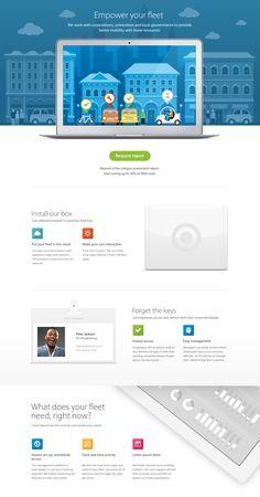 Landing page design by Haraldur Thorleifsson
