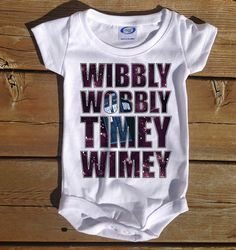 Wibbly Wobbly Timey Wimey Club infant baby one piece onesie romper body suit  doctor who dr