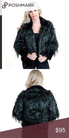 Fabulous Furs Faux Fur Coat A gorgeous coat that has a deep green and black combo for the perfect subtle contrast. Fabulous Furs Jackets & Coats