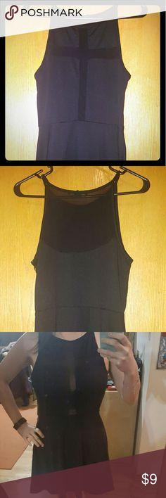Forever 21 Black Mesh Skater Dress Super cute black dress for a night out! Worn only once, like brand new! Forever 21 Dresses Mini