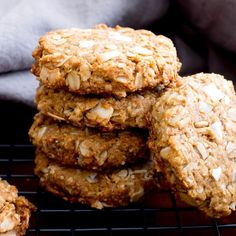Deliciously thick, chewy peanut butter cookies bursting with coconut and oats. Vegan, Gluten Free, Dairy-Free.