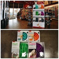 Do you have a dog that inhales their food too quickly?  The SLO-BOWLS might just be the solution. These fun-coloured bowls can help slow down your dog's eating and can help keep your pet stimulated. Available in two sizes and a variety of shapes and colours at Global Pet Foods stores across Canada.