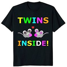 Twins Inside Baby Announcement Funny T-Shirt Gift Tee Shirt