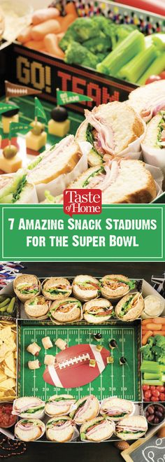 7 Amazing Snack Stadiums for the Super Bowl