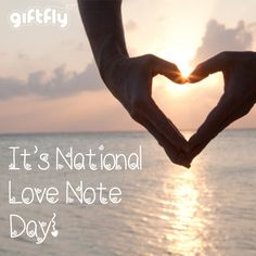It's National Love Note Day! Tell someone that you love them today with a handwritten note or if they're far away consider sending a GiftFly to that very special place, perfect for long-distance gifting: http://www.giftfly.com #lovenoteday #September26th #daysoftheyear