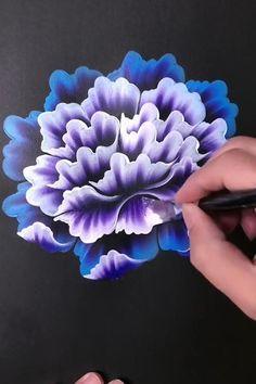 Canvas Painting Tutorials, Diy Canvas Art, Art Painting Gallery, Painting Art, Paintings, Acrylic Painting Flowers, Art Drawings Sketches Simple, Art Lessons, Flower Art