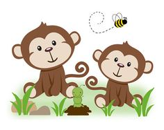 Monkey Nursery Decal Safari Jungle Animal Baby Boy Wall Art Mural Stickers #decampstudios