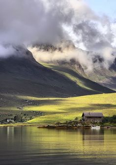 Boathouse at Achintrad, Loch Kishorn, the Highlands, Scotland Places To Travel, Places To See, Travel Destinations, Travel Tourism, Nightlife Travel, Holiday Destinations, Beautiful World, Beautiful Places, Beautiful Scenery