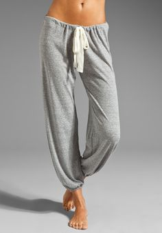 EBERJEY Heather Pant in Heather Gray at Revolve Clothing - Free Shipping!  I'd never leave the house with these, so comfy looking!