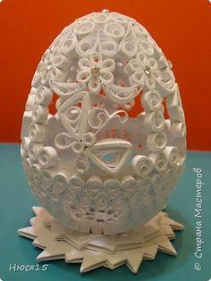 Поделка изделие Пасха Квиллинг Пасхальные яйца часть 3 Бумажные полосы фото 1
