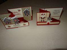 Stampin up SU Weihnachtskarte Lebkuchenmann Renntier Weihnachtsmann ausgestocken Weihnachtlich Lebkuchenmannstanze Anleitung Double Z Fold Card  Karte 3 D Karte Box Schachtel Wackelkarte Lebkuchenmännchen besondere Karten Weihnachtskarten 2016 Rudolf