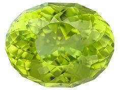Chinese peridot minimum 1.75ct 9x7mm oval SunGlitz cut™. The gemstone was mined and cut in China.