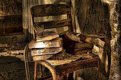 Abandoned Orphanage_Old Books by ☣ MÀggøT BrÁìN ☣, via Flickr