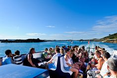 Travelling on the top of the Trident ferry on a sunny day. The best way to get to Herm Island.