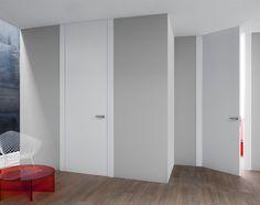 Invisible hinges. Floor to ceiling in height. Bella! Lualdi Door, Milan, Italy…