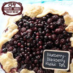 Blueberry-Blackberry Rustic Tart Recipe from Taste of Home