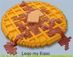 Haha! Lego my eggo! :)  #puns #funny #words