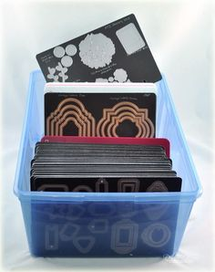 DOCrafts Papermania Stamp and Die Storage Pockets with Magnetic Shim for PM105902 10-Pack