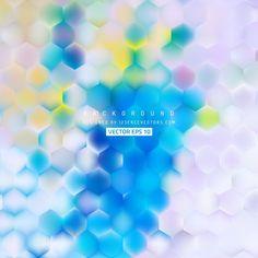 Abstract Hexagonal Background Design #freevectors