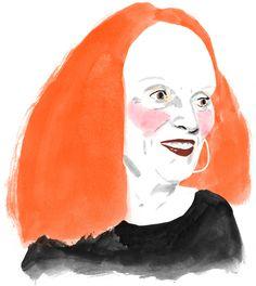 Grace Coddington illustration by Rebecca Clarke