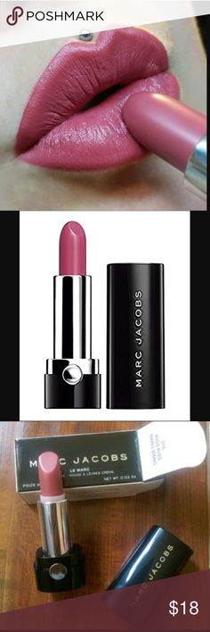 MARC JACOBS Lipstick Brand New! Gorgeous shade of mauve/pink !!! With Spring right around the corner start if off with your new Spring Shades like this Lipstick. SO pretty!  This is Half size Discount on a Bundle Marc Jacobs Makeup Lipstick