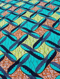 """Ghana Wax Batic Print Fabric........... sold """"Au Marche"""" by the well-known NaNa-or-MaMa Benz 9for their choice of vehicle)"""