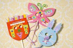 Osterdeko - Ostermasken für die Kinder machen