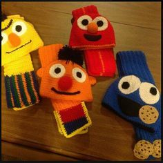 Can you tell me how to get, how to get to Sesame Street?? Sesame Street Hats with matching scarves - *Inspiration*