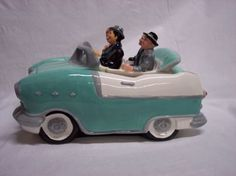 I-LOVE-LUCY-Car-Cookie-Jar-California-Here-We-Come-Lucille-Ball-with-Tag-1996