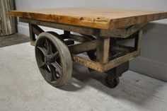 Industrial Cart Coffee Table 21