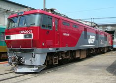 Japan - JR Freight EH500 electric locomotive EH500-31 on display at Koriyama Rolling Stock Centre open day - wikimedia