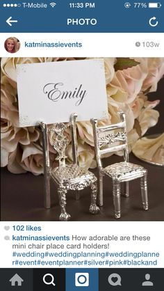 Chair place cards