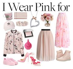 """Pink for Every Occasion"" by cici-rahma on Polyvore featuring Chicwish, Carvela, Burberry, Valentino, Disney, Blue Nile, Manolo Blahnik, Christian Louboutin, adidas and Zhenzi"