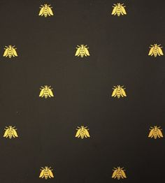 Bee Wallpaper A Small Gold Black Paper Or Paint W Appliques