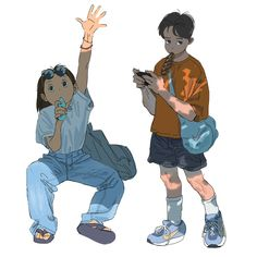 Media Tweets by 윤재안 (@dkswodbs96) / Twitter Pretty Art, Cute Art, Personajes Studio Ghibli, Arte Fashion, Cartoon Art Styles, Art Reference Poses, Character Design Inspiration, Aesthetic Art, Cute Drawings