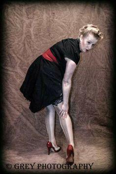 Pinup - redhead - studio www.Facebook.com/greyphotographyut