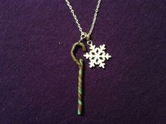 ROTG - Jack's staff & snowflake necklace. kr50.00, via Etsy.