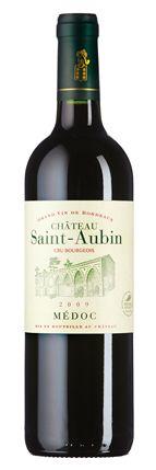 Château Saint-Aubin 2009:  Frucht, die an Pflaume und Cassis erinnert, etwas Kräuter und Toastwürze. Geschmack mit reifer Frucht und feinkörnigen Gerbstoffen.