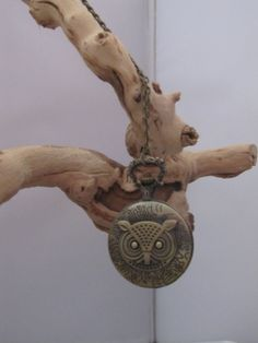 Large Vintage Bronze Owl Watch Pendant by socalledbrent on Etsy, $28.00
